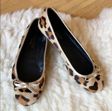 Talbots Shoes Size 7 Leopard Ballet Flats Brown