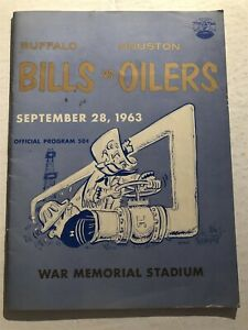 1963 BUFFALO BILLS vs HOUSTON OILERS Program AFL Jack KEMP George BLANDA Cookie