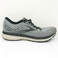 Brooks Mens Ghost 13 1103481D040 Black Gray Running Shoes Lace Up Size 11.5 D