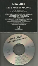 LISA LOEB Let's forget about it RARE PROMO Radio DJ CD Single 1997 USA MINT