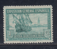 ESPAÑA (1929) NUEVO CON FIJASELLOS MLH - EDIFIL 434 (1 cts)  LOTE 1