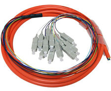 SC//APC 12 Strand Fiber Optic Pigtail 5678 9//125 3 Meter OS2 Single Mode