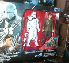 STAR WARS FIRST ORDER SNOWTROOPER OFFICER AND POE DAMERON , 2 PACK, UNOPENED, HA