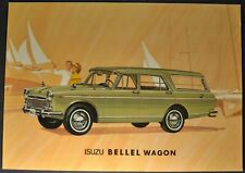1965-1966 Isuzu Bellel Diesel Wagon Sales Brochure Sheet Excellent Original
