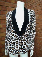 KORS negro, camello y MICHAEL Blanco Estampado de Leopardo Esmoquin Chaqueta Tamaño UK 8 BNWT