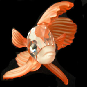 "SWAROVSKI SIAMESE FIGHTING FISH RED Crystal 2.25"" NEW IN BOX Austria #660941"