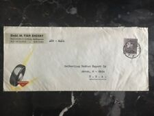 1959 Belgium Commercial Airmail Cover To Akron Ohio Usa seiberling Tires Co.