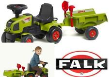 Ride On Tractor Toy Falk Kids Play Farm Sit N Scoot Green Loader Trailer New