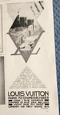 Publicité de Presse Louis VUITTON 1931 Original French Vintage Ad