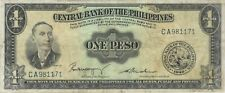 1949 1 ONE PESO PHILIPPINES CURRENCY BANKNOTE NOTE MONEY BANK BILL CASH ASIA