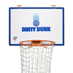 Dirty Dunk Over The Door Basketball Backboard Hoop Laundry Hamper Clothes Basket