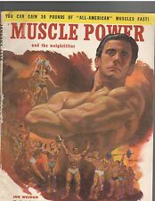 Vintage Muscle Power Bodybuilding fitness magazine Joe Weider 1-58