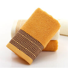 Soft Bamboo Fiber Face Towel for Adults Thick Super Absorbent Face Cloth 35x75cm