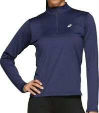 ASICS Women's Silver Winter 1/2 Zip Top Running Gym Clothes 2012A034-400 Navy