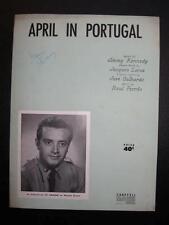 April In Portugal Sheet Music Vintage 1953 Vic Camone Raul Ferrao J Kennedy (O)