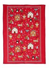 "Ulster Weavers, ""Festive Friends"", Pure linen printed tea towel."