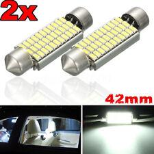 2 PCS 42MM LED 33 SMD Courtesy Interior Light Bulb Festoon Dome Lamp 6000K White