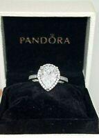 New Pandora Radiant Teardrop Clear CZ Ring #196251CZ size: 5,6,7,8,9  Box/Pouch