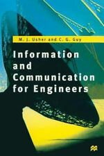Information And Communication For Engineers (new Electronics Series): By M. J...