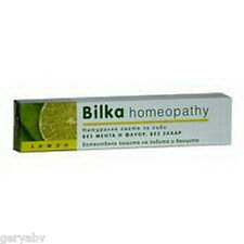 Bilka LEMON  HOMEOPATHY Natural Toothpaste 75ml.Menthol and Fluoride Free