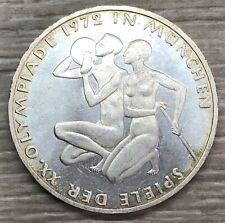 1972 Germany Munich Olympics 10 Mark Silver Coin (G419)