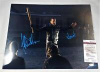 "JEFFREY DEAN MORGAN ""NEGAN"" SIGNED 16X20 METALLIC PHOTO THE WALKING DEAD JSA 746"