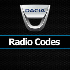Dacia Radio Code Security Codes Car Duster Logan Sandero Dokker Lodgy Unlock