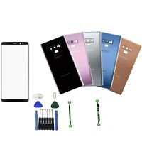 For Samsung Galaxy Note 9 N960 Front Screen Glass Back Glass Replacement Kits