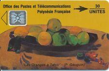 TELECARTE POLYNESIE PF6a GAUGUIN grands emboutis
