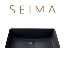 Seima Plati Undermount Matte Black Basin Vanity Bench Top Under Mount Bathroom