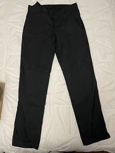 Men's Nike Golf Pants Black Size 32W X 34L Dri-FIT Regular Fit 906780-010 EUC