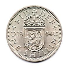 KM# 905 - One Shilling (Scottish) - Elizabeth II - Great Britain 1964 (AU)