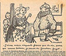 GOUDRON GUYOT DESSIN POULBOT PUBLICITE 1927