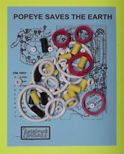 1994 Bally / Midway Popeye Saves the Earth pinball rubber ring kit