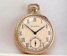 1923 SOUTH BEND 17 Jewels Pocket Watch GR 411 in 14K GOLD FILLED CASE 12s - RUNS