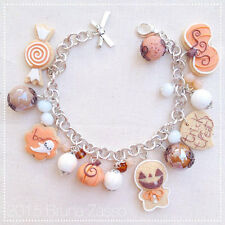 Braccialetto Cute Halloween Bracelet Fimo Polymer Clay Kawaii Pumpkin Ginger