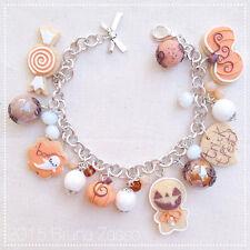 Braccialetto Cute Halloween Bracelet Fimo Polymer Clay Kawaii Pumpkin Ginger
