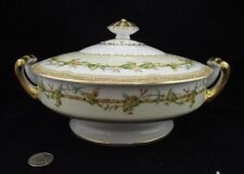 NORITAKE OLYMPIA YELLOW JAPAN ROUND COVERED VEGETABLE SERVING BOWL WITH HANDLES