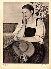Karl Haider Schliersee Die Moni Tracht Jugend Historischer Kunstdruck v. 1906