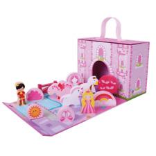 Jumini Wooden Toys FOLDABLE / FOLDAWAY UNICORN CASTLE 18m+ Portable Playset