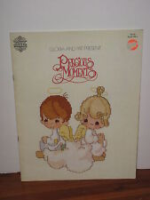 1980 Precious Moments Book 1 Counted Cross Stitch Praise the Lord, Angles, Jesus