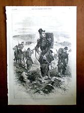 (guerra di Crimea) il Chasseurs De Vincennes-dall' ILLUSTRATO London News,1856