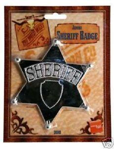 Cowboy Fancy Dress Sheriff Badge Metal Western Boys Toy by Smiffys New