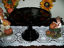 """10"""" Solid Glass Black Amethyst  Raspberry Pedestal Cake Plate Cake Stand Only"""