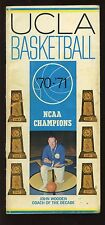 1970/19710 NCAA Basketball UCLA Bruins Media Guide John Wooden VGEX