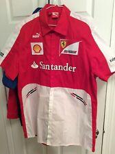 Ferrari Scuderia F1 Racing SF Team Puma Ni�os Polo Camisa Rojo Oficial Nuovo