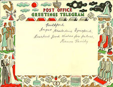 GREETINGS TELEGRAM : 1939 Post Office Greetings Telegram-used-HOLLAND
