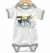 HORSES Baby RINGER BODYSUIT, Sunlit Mist, INFANT ROMPER, KIDS Apparel