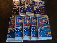 1991 Pro Set Football---Series 1 & 2---Packs---Lot Of 9---Favre, Belichick RC's
