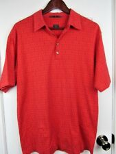TIGER WOODS Collection Men's Medium Golf Tone on Tone Red Polo Shirt A1